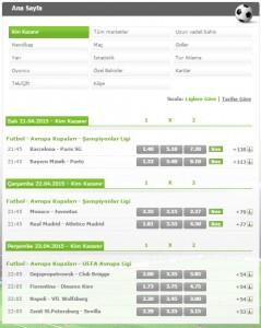 Bets10 Avrupa Kupları Programı