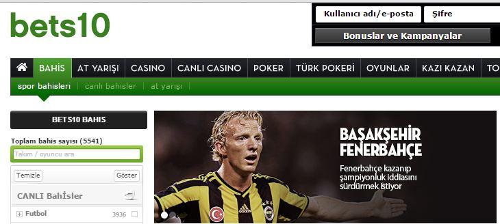 Başakşehir Fenerbahçe Maçı Bets10 Oranları