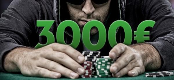 TOPLAM 3000 EURO ÖDÜLLÜ POKER ŞAMPİYONASI!