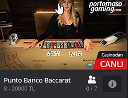 Punto Banco Baccarat